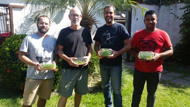 ?Equipe - Bruno Motta, Thomas Oberlin, Rodrigo Meyer e Eudo Junior, da Fazenda Urbana Brasil, projeto pioneiro de microverdes