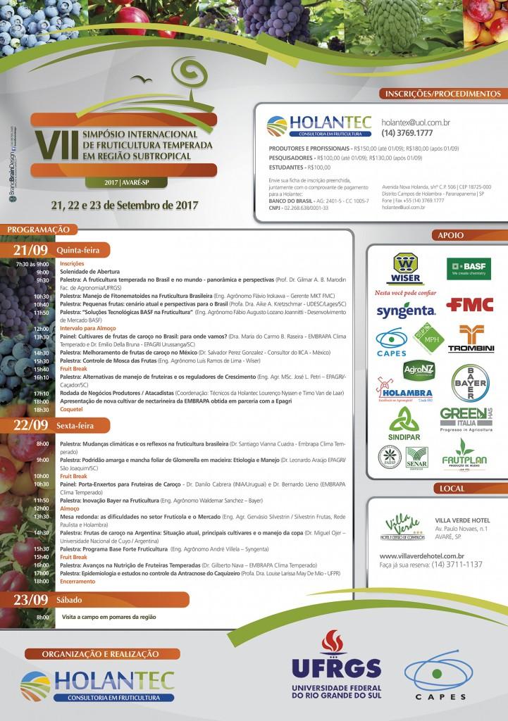 Cartaz - VII Simposio Internacional de Fruticultura Temperada em Regiao SubTropical