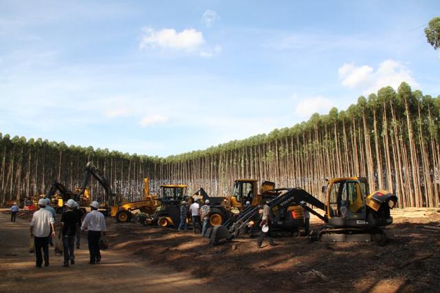 A preocupação com a segurança e a ergonomia dos operadores de máquinas florestais ou ferramentas de corte é fundamental - Créditos Luize Hess