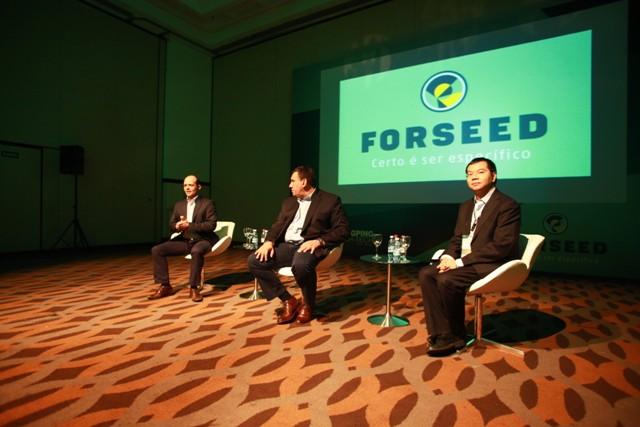 Aldenir, Sgarbossa, Mozart Fogaça e Kevin Chen durante coletiva de lançamento da marca - Créditos Fernando LucaniaDivulgação